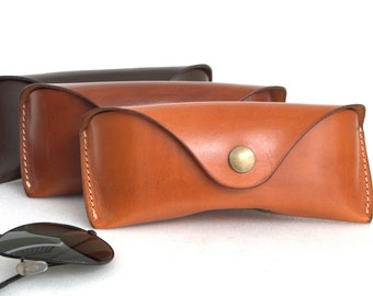 Glasses case for Aviators÷Wayfarers vegetable tanned leather sunglasses case eyeglass case
