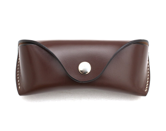 Bridle leather Glasses case Australian nut
