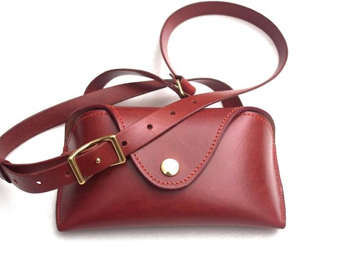 Womens crossbody purse leather glasses case -the Athena purse-
