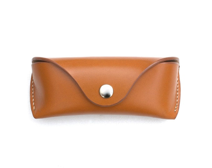 Bridle leather Glasses case Saddle tan