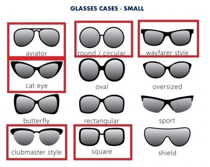 Celyfos® Glasses cases Sizing