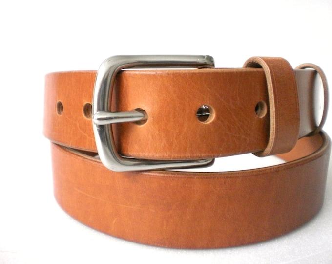 """Belt Veg Tan 1.5"""" Heavy Duty Leather casual belt"""