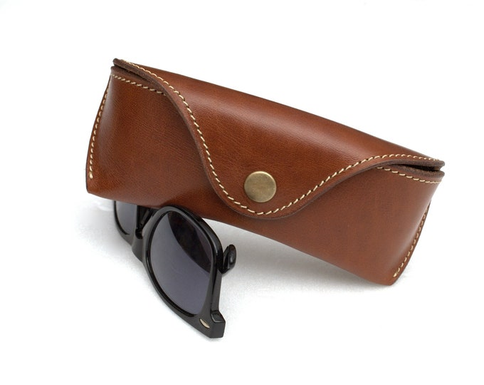 Leather glasses case Vintage Brown