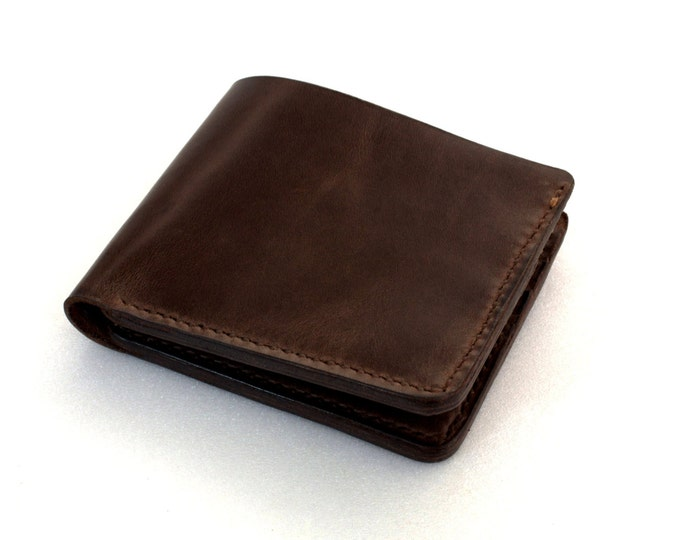 Leather Wallet Hand made Italian leather espresso brown Handcrafted by Celyfos®