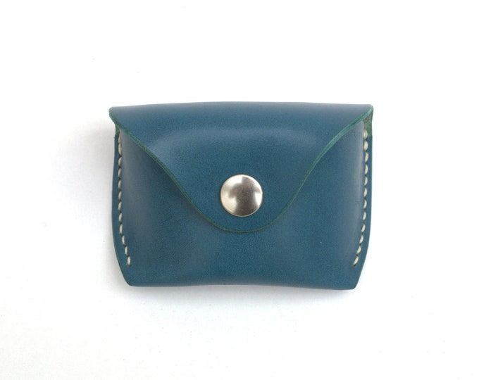 Glasses case for folding Ray Ban sunglasses, Aqua, Handmade