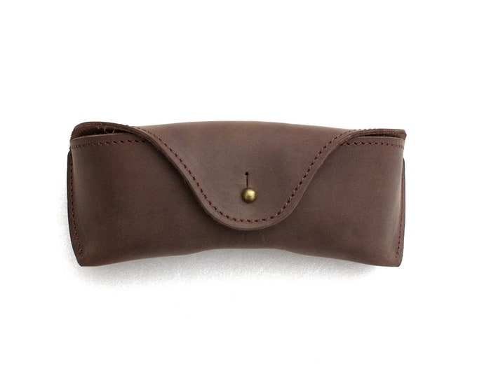 Oiled Leather Sunglasses Case espresso brown