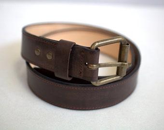 Leather gun belt 1.5'' heavy duty 14'' thick | Etsy