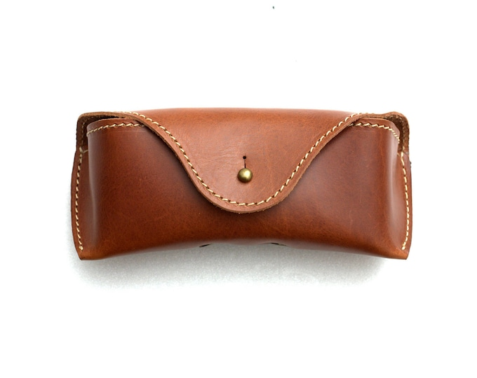Vegetable tanned Leather soft Glasses Case