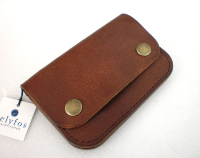 Minimalist leather Wallet Hand made Personalized