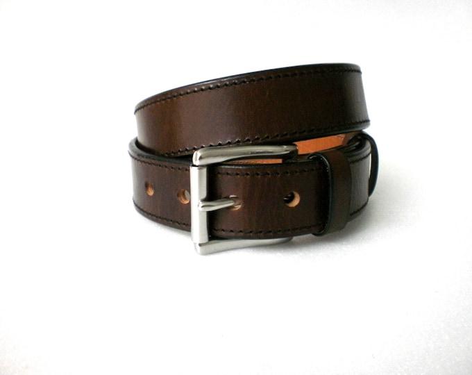 leather gun belt 1.5'' heavy duty 1/4'' thick casual handmade veg tan steel buckle