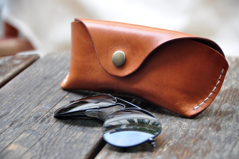 902a138a7389 Leather Glasses case sunglasses case vegetable tanned