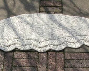 winter white shawl