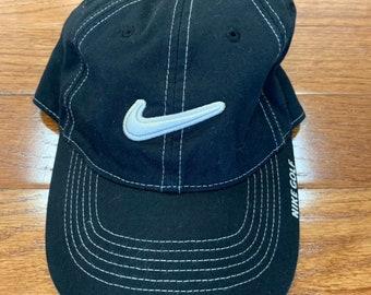 ab2f7ccf618e7 Vintage 1990 Nike Strapback Hat Cap Golf Tiger Woods
