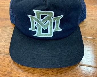 pretty nice 72741 cd88f Deadstock Vintage 1990s Hat Cap Snapback Milwaukee Brewers