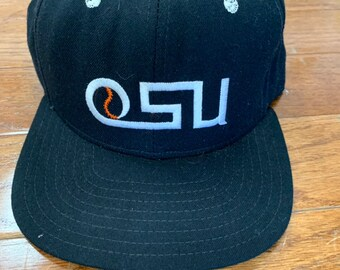 the best attitude 04bf7 c1d4d Deadstock Vintage 1990s New Era Hat Cap Oregon State University Baseball  Fitted