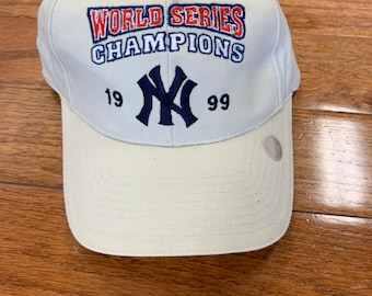 6ced2c9895b46 Deadstock Vintage 1990s New York Yankees Hat Cap World Series Strapback