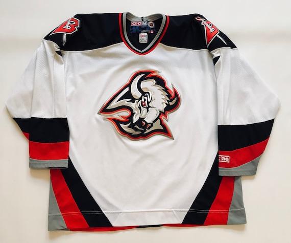 76afc3c30 ... canada vintage buffalo sabres goathead sewn ccm jersey size xl 02a4c  74d89