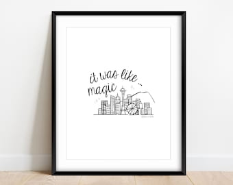 "It was like Magic Sleepless in Seattle Movie Quote | DIGITAL DOWNLOAD 8""x10"" Wall Art"