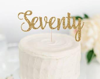 70 cake topper etsy