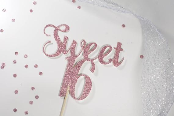Sweet 16 Birthday Cake Topper 16th