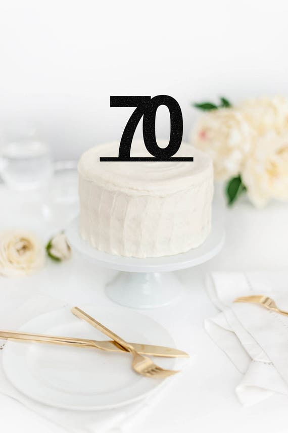70 Cake Topper 70th Birthday Party Decor