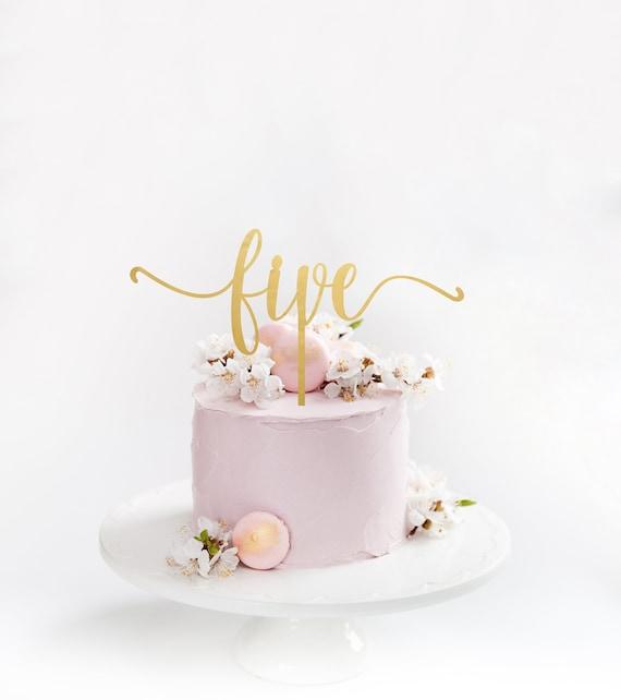 Phenomenal Five Acrylic Cake Topper 5Th Birthday Cake Topper Custom Etsy Funny Birthday Cards Online Necthendildamsfinfo