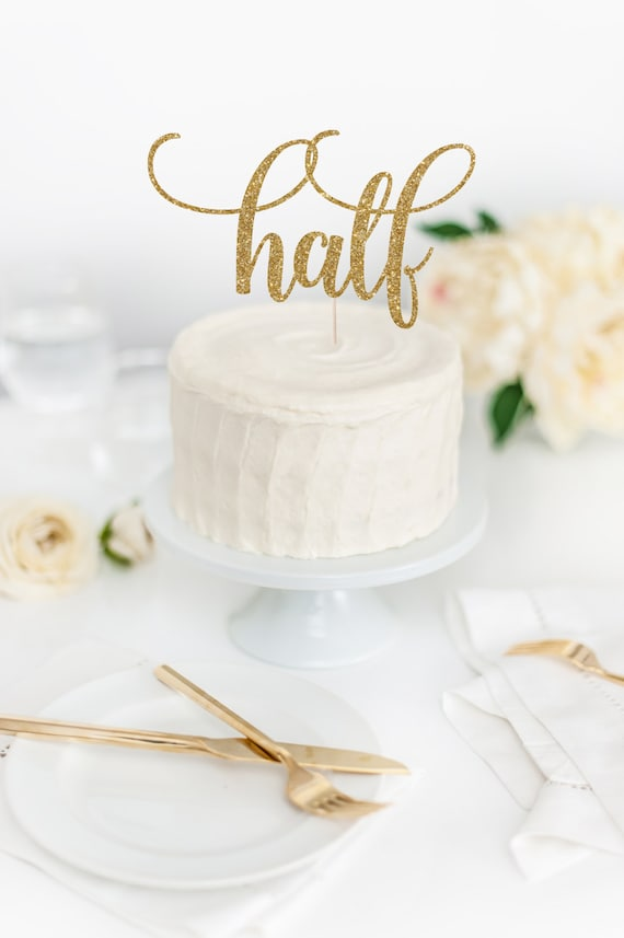 Half Birthday Cake Topper 6 Months Old Party Decor