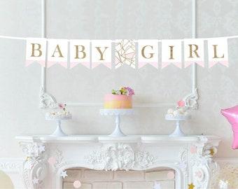 Baby Girl Printed Banner - It's a Girl Decor - Baby Shower Decor - New Baby Announcement - Nursery Banner - Gender Reveal Banner - Baby Girl