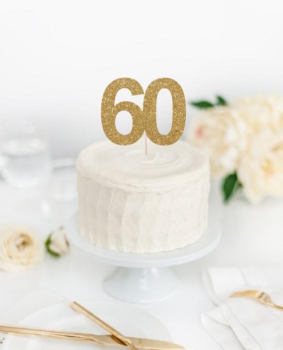 60 Cake Topper 60th Birthday Sixty