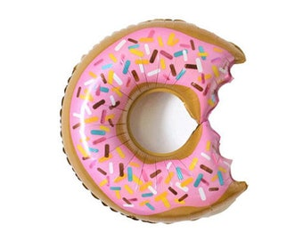 "Giant Donut Balloon - 36"" Mylar Balloon - Donut Party Decor - First Birthday Decor - Doughnut Theme Party - Birthday Balloon - Donut Grow Up"