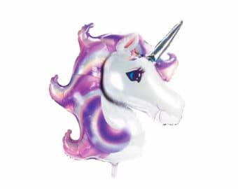 """Giant Unicorn Balloon - 33"""" Mylar Balloon - Unicorn Party Decor - First Birthday Decor - Unicorn Theme - Birthday Balloon - Purple Unicorn"""