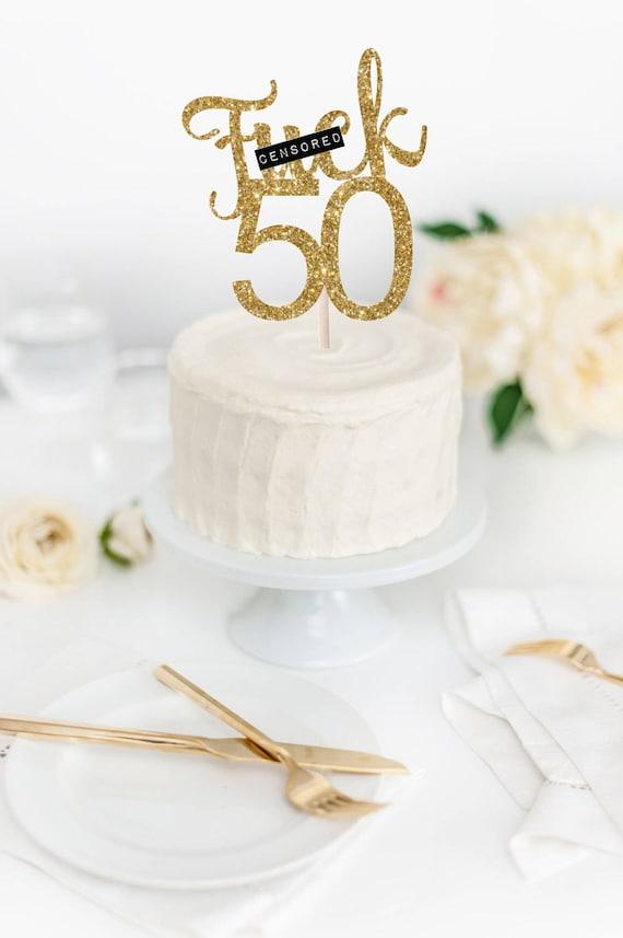 Fk 50 Cake Topper 50th Birthday Funny Birthday Cake