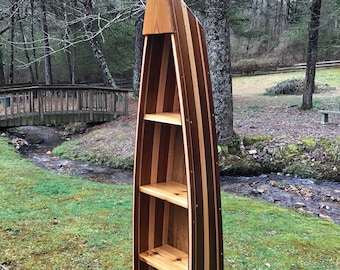 Dollhouse Miniature Natural Wood Row Boat//Shelf #D9154-92