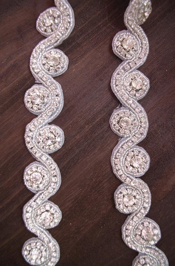 ... ceinture de de mariée strass, ceinture nuptiale, bille de ceinture  strass de garniture, b82a48829c8