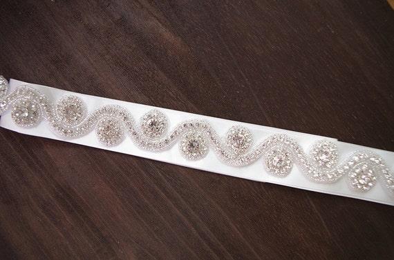 ... ceinture de de mariée strass, ceinture nuptiale, bille de ceinture  strass de garniture, ... bfb8737ca25