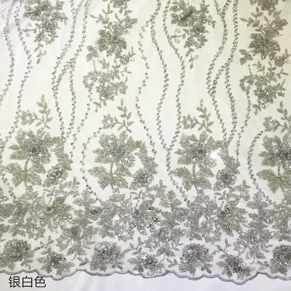 47ad5ec60c7b High end heavy bead lace fabric heavy embroidered lace fabric