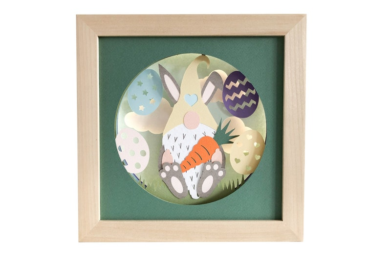 Gnome shadow box Easter svg for cricut or silhouette machines image 0
