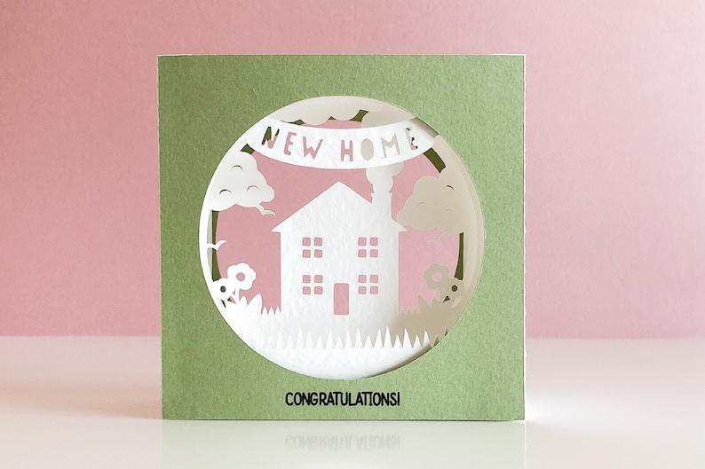 New Home 3D Tunnel Card svg for Cricut Joy Cricut or image 0