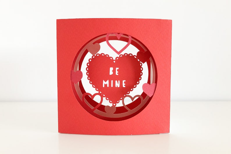 Valentines 3D Tunnel Card svg for Cricut Joy Cricut or image 0