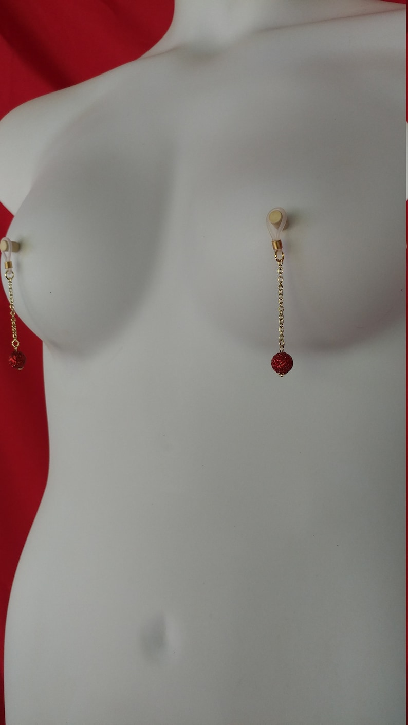 SET OF 3 Christmas Holiday Bulb Nipple Jewelry Clit Clip and Earrings Non-Piercing Pierced ~ Painless and Adjustable!!!