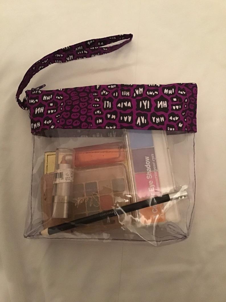 Ankara /& vinyl pouch. Vinyl pouch Ankara pouch