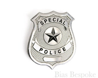 Special Police Metal Badge for Costumes