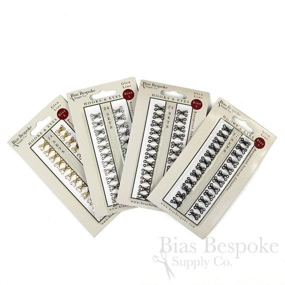 24 Sets or 144 Sets of GLEN Size # 2 Hooks /& Eyes