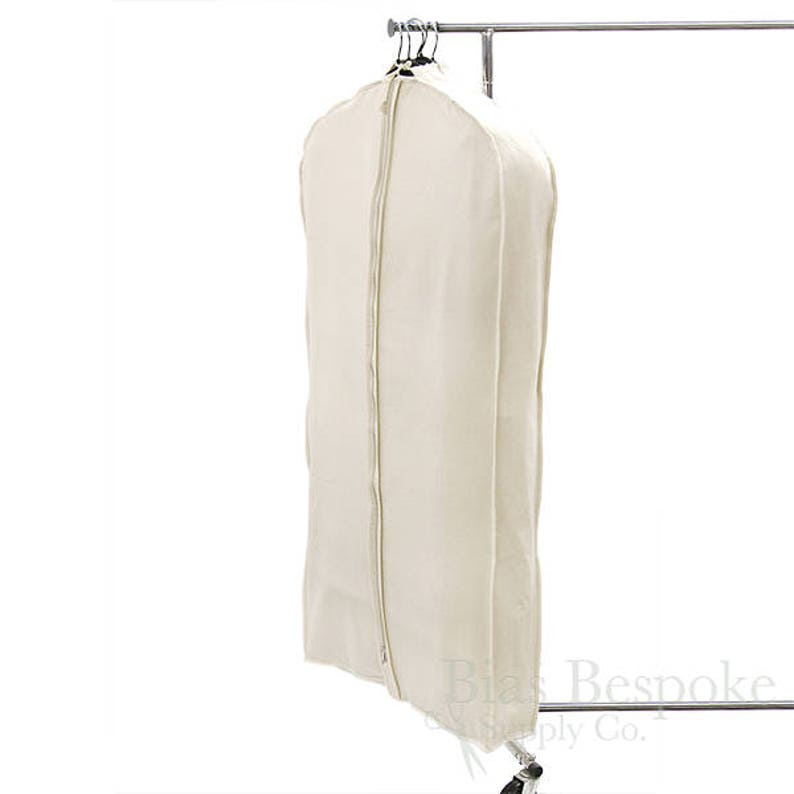 07485c7558fd 100% Cotton Canvas Gusseted Garment Bag, For 4-5 Suits or Gowns