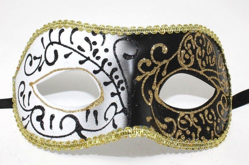 Black and Gold Masquerade Mask for Masked Ball