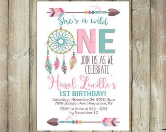 wild one birthday invitation etsy