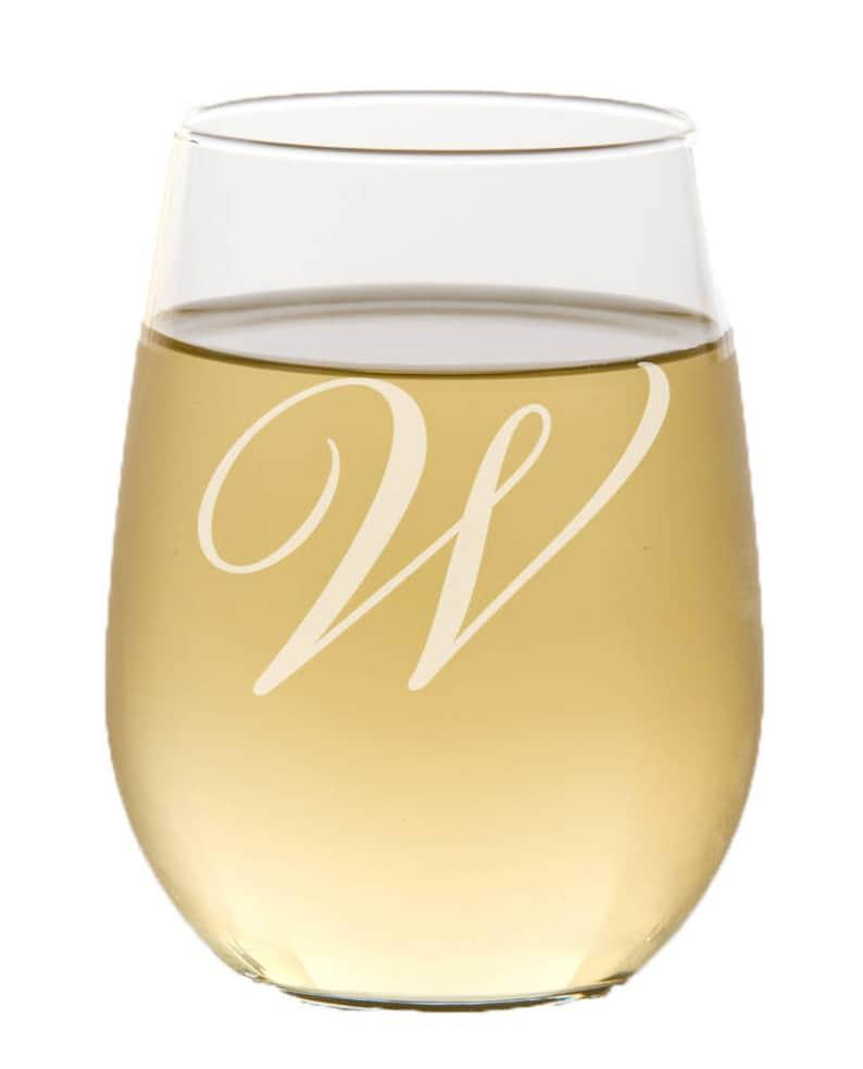Personalized Stemless Wine Glass Custom Engraved Custom Wine image 0