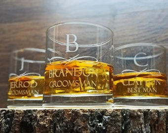 Personalized Whiskey Glasses, Groomsmen Gifts, Personalized Scotch Glass, Whiskey Glasses Engraved, Great Custom Gift Idea, Custom Glassware