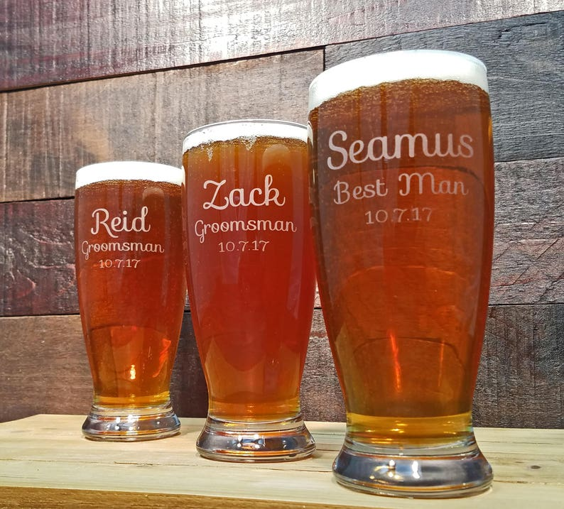 Personalized Beer Glasses Etched Glasses Engraved Glassware image 0