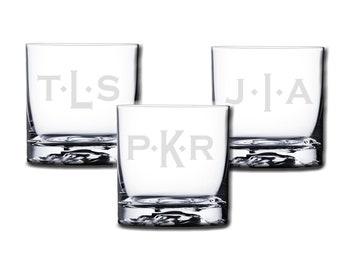 Personalized Whiskey Glasses, Bourbon Glasses Personalized, Monogram Scotch Glasses, Whiskey Glasses Engraved, Whiskey Drinker Gift